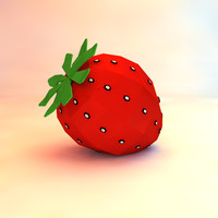 3d strawberry asset model