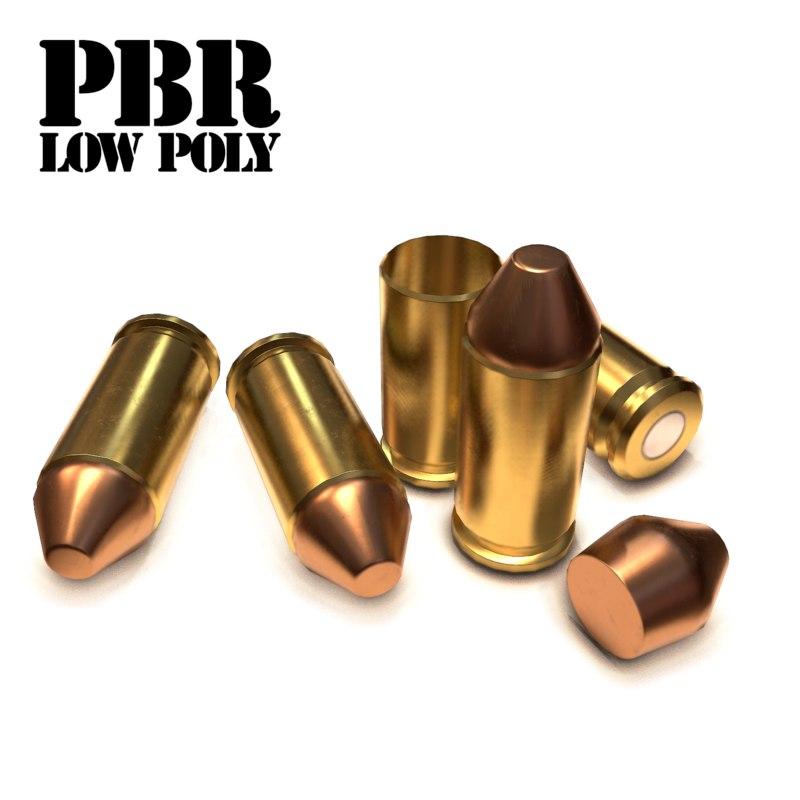cartridge bullet 3 obj