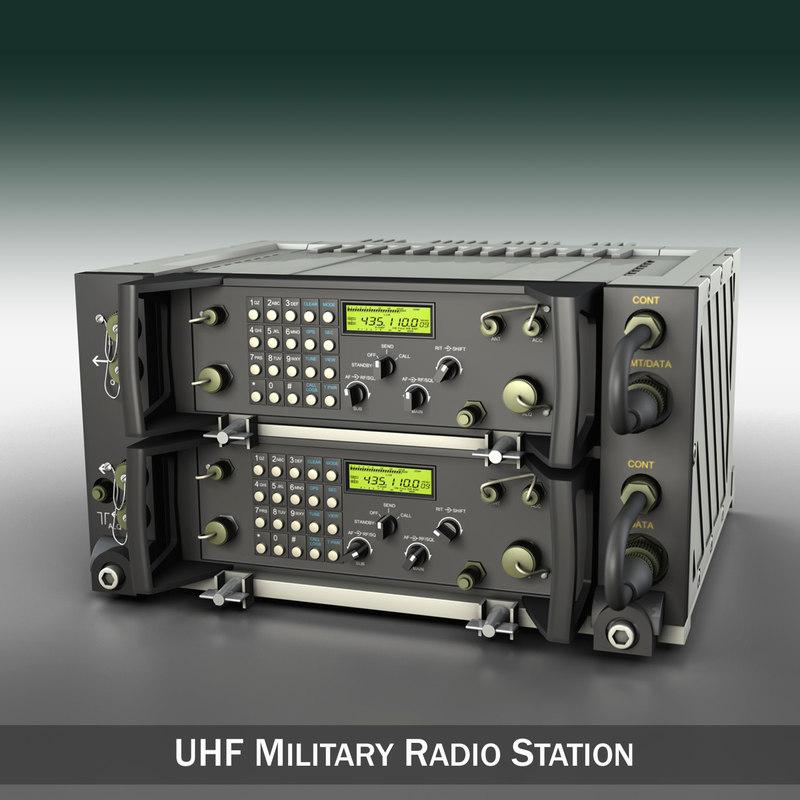 c4d radio military uhf