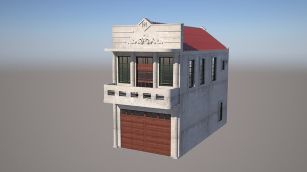 3ds traditional taiwanese house build