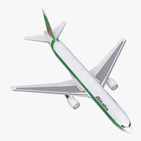 boeing 767-300 alitalia rigged 3d max
