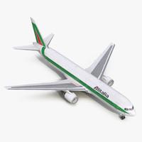 boeing 767-300 alitalia 3d c4d