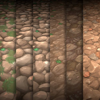 Texture Set Vol.01 Hand Painted Rock