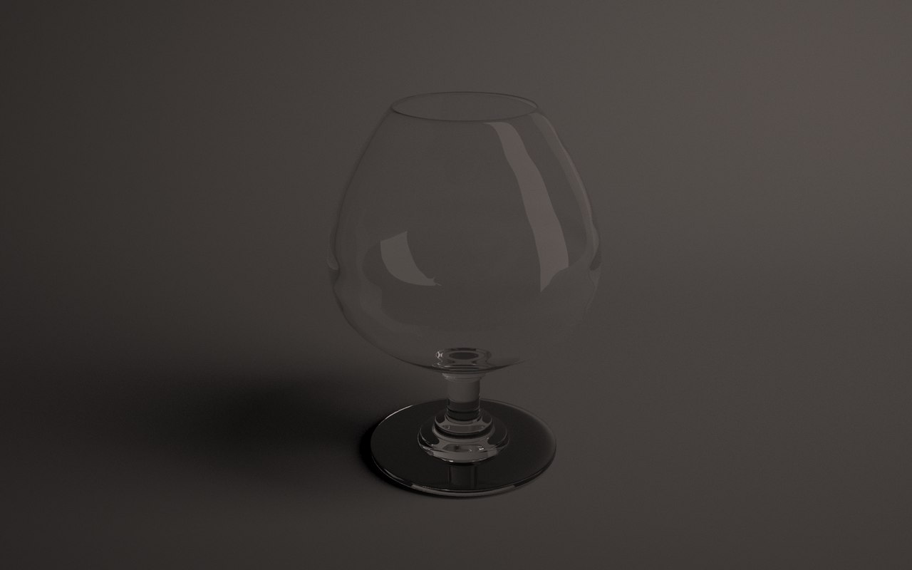 3d model wine glass cognac