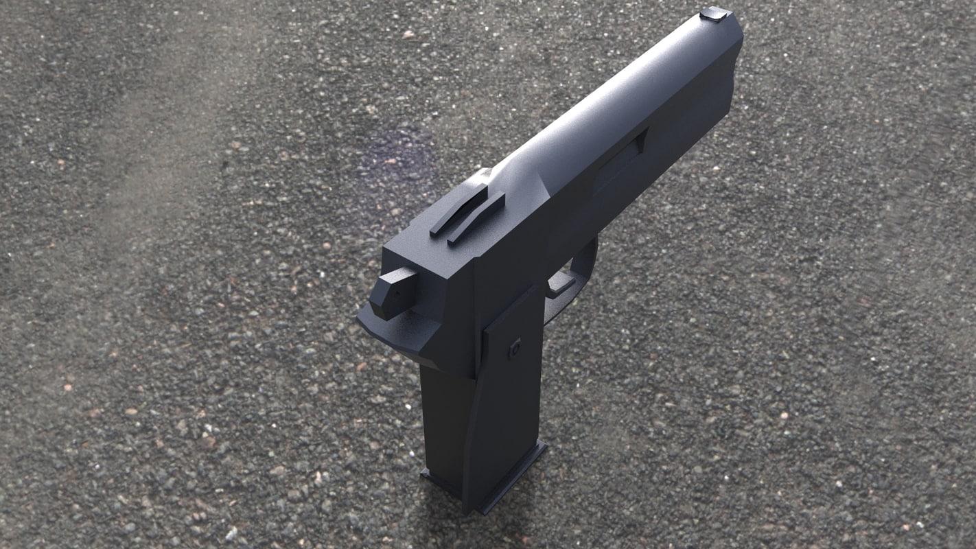 pistol accessories 3d obj