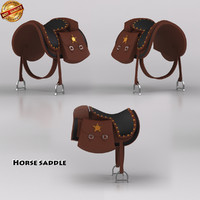 3d obj saddle horse