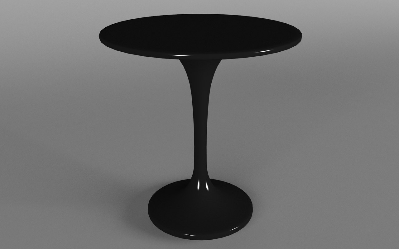 3d model black plastic table