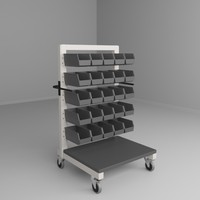 3d model mobile height adjustable carts