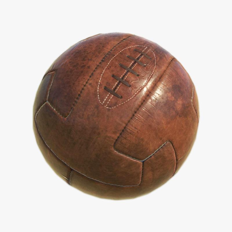 vintage soccer ball 3d model