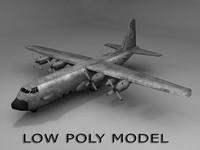 3d c-130 gunship model