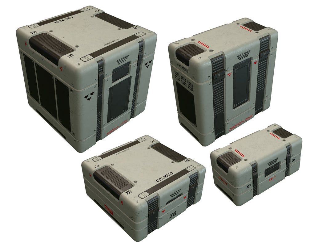 sci fi box 3d max