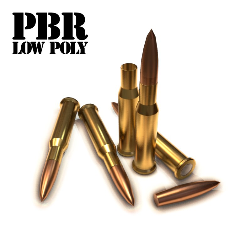 cartridge bullet 9 3d model