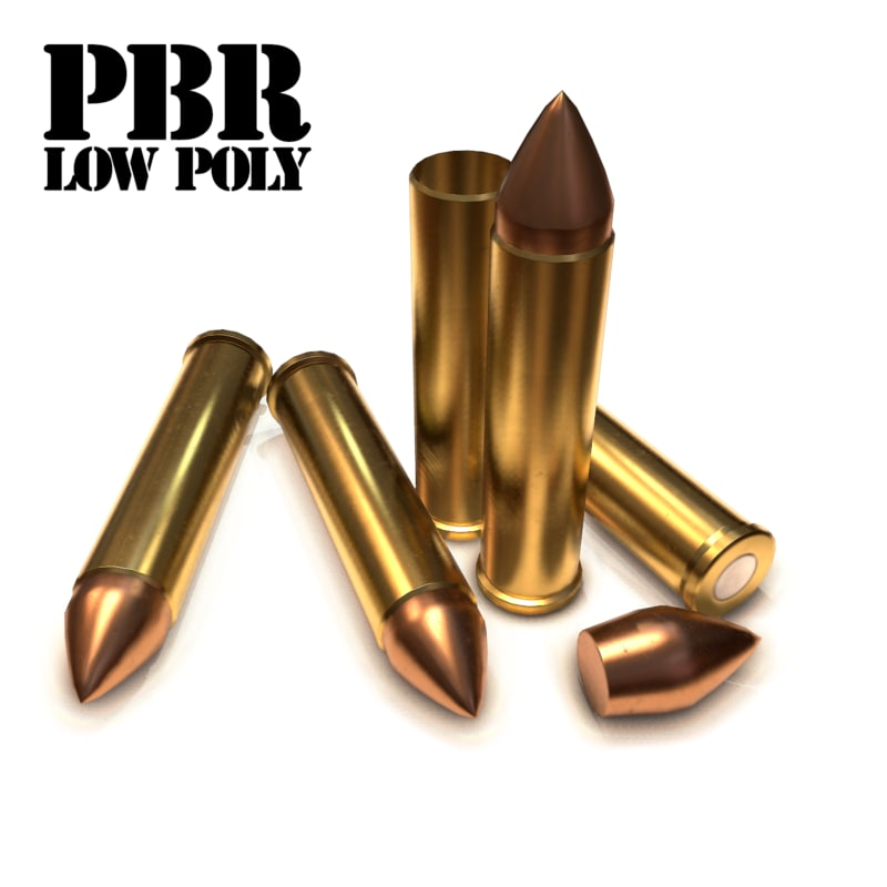 cartridge bullet 8 3d model
