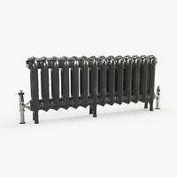 3d model vintage radiator