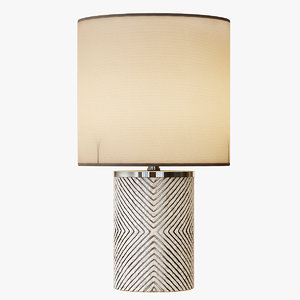 3d etched glass table lamp
