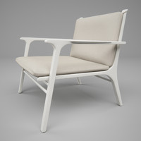 Ren lounge chair white - Stellar Works