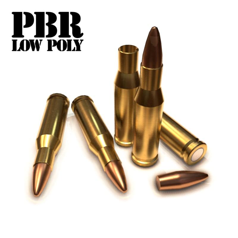 3d cartridge bullet 11