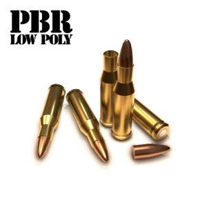 cartridge bullet 13 3d model