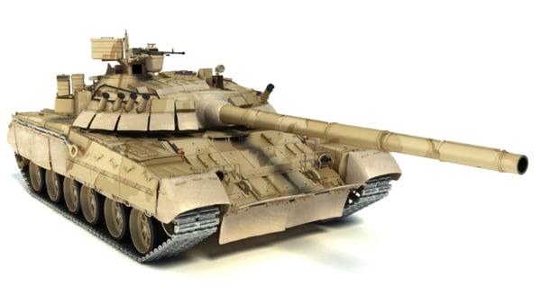 3d t-80ud main battle tank model