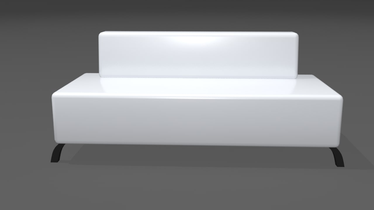 3d model of bar couch