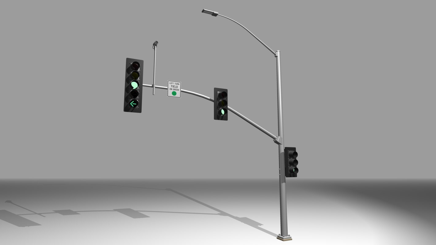3d model california traffic signal