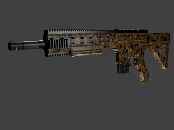 3d model daniel defense ambush firearm