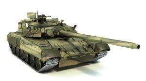 3d t-80ud tank t-80 model