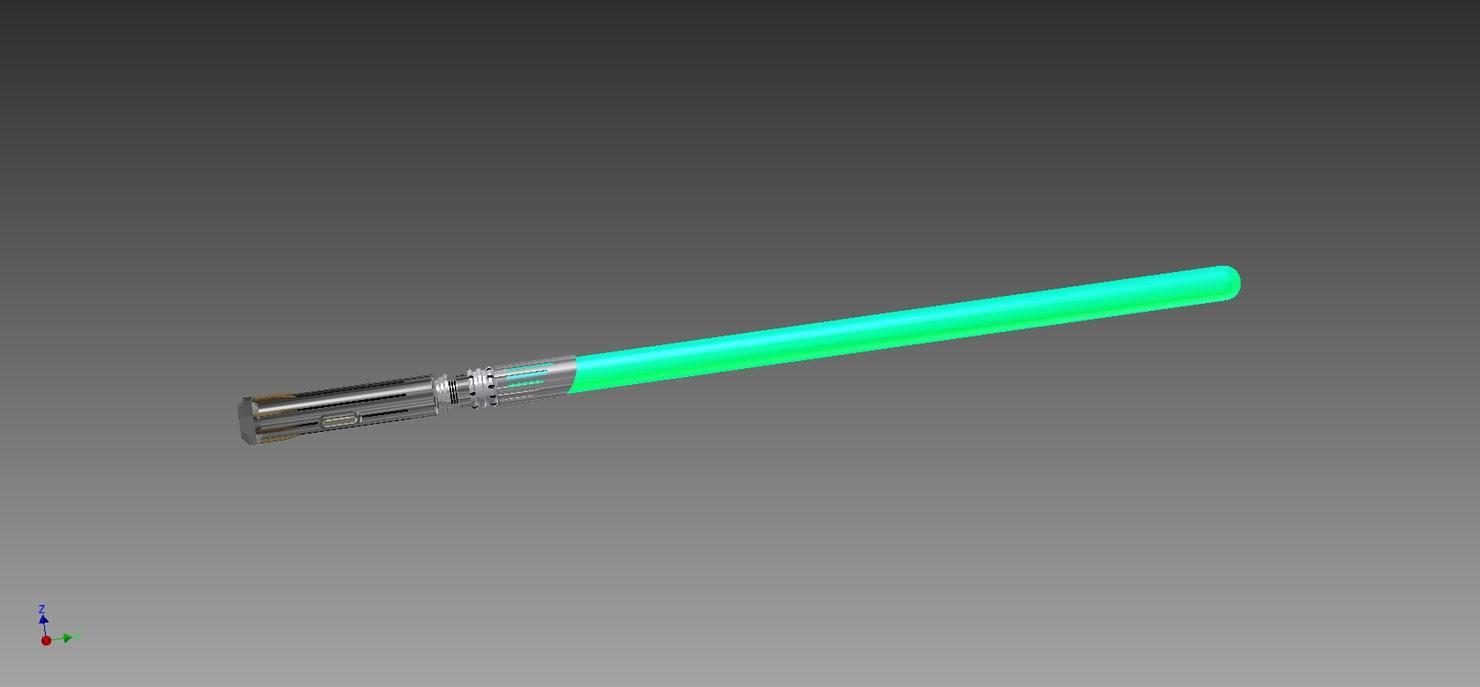 custom saber 3d model