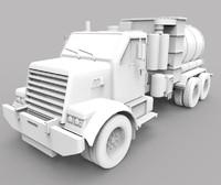 vacuum truck industry 3d max