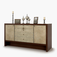 3d barbara barry carmel console