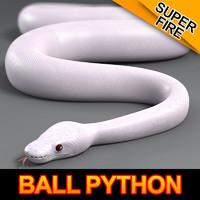 super ball python 3d max