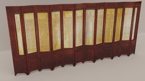 blend solid folding screen chinese