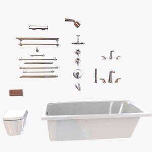 fixtures kallista bath 3d model