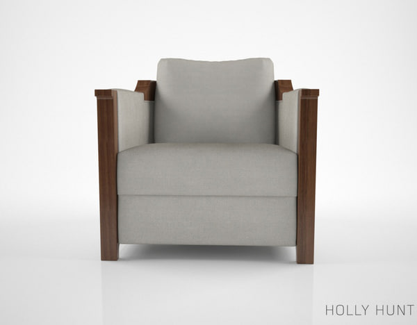 3d holly hunt carpo armchair