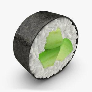 3d model avocado sushi