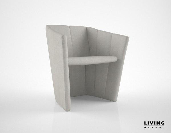 3d living divani fold chair model