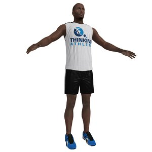 3d athlete man