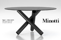 3d model minotti van dyck dining table