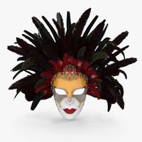 venetian mask carnival 3d max