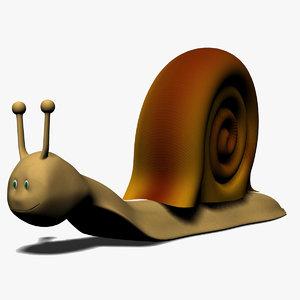 cartoon snail 3d max