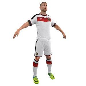 soccer player obj