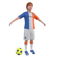 3d soccer kid