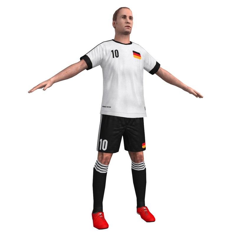 ready soccer player 3d model