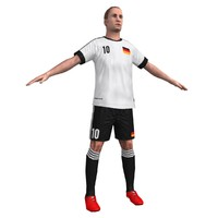ready soccer player 3d model