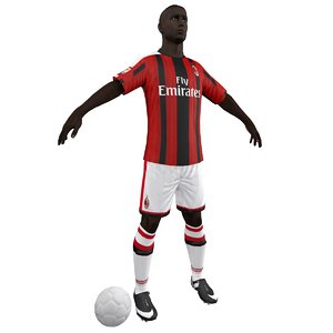 3d soccer player model