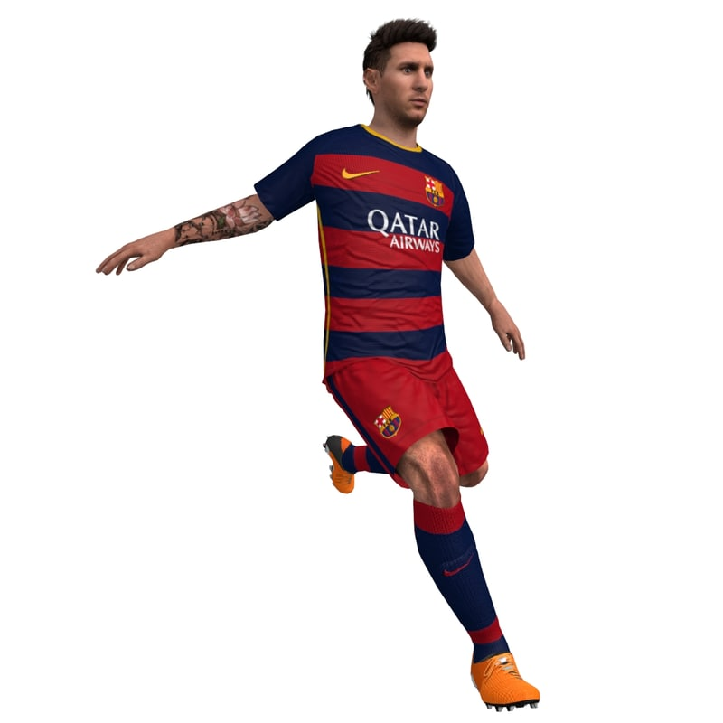 3d rigged messi model