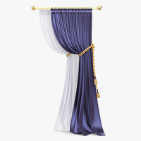 3d model of curtain