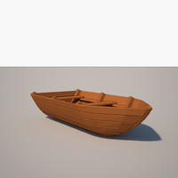 cartoon boat 3d 3ds