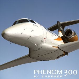3d model embraer phenom 300