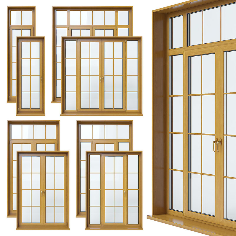 french doors 3d model
